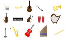 Samling av instrument Royaltyfri Fotografi