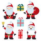 Samling av jul Santa Claus 1 royaltyfri illustrationer