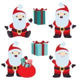 Samling av jul Santa Claus 2 royaltyfri illustrationer