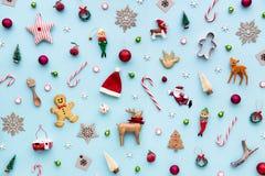 Samling av julobjekt arkivfoto