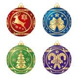 Samling av julsfärer royaltyfri illustrationer