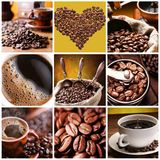 Samling av kaffe. Royaltyfria Foton