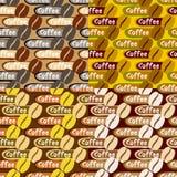 Samling av kaffebakgrunder Arkivfoton