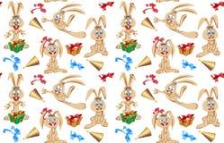 Samling av kaniner med olika ansikts- expres vektor illustrationer