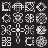 Samling av keltiska fnurendesigner i vektorformat stock illustrationer