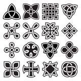 Samling av keltiska fnurendesigner i vektorformat vektor illustrationer