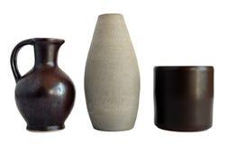 Samling av keramiska tillbringare och vaser Royaltyfria Foton