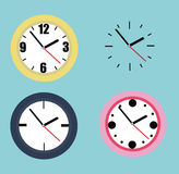 Samling av klockor Arkivbilder