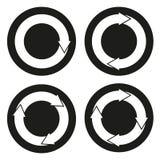 Samling av 4 knappar med rundade pilar Royaltyfria Foton