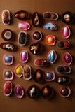 Samling av konfektar och tryfflar royaltyfri bild