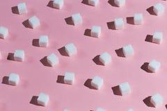 Samling av kuber av socker royaltyfria bilder