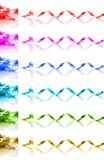 Samling av kulöra gåvaband för regnbåge Royaltyfria Bilder