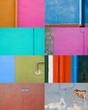 Samling av kulöra väggar Royaltyfri Bild