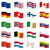 Samling av landsflaggor 2 Royaltyfri Bild