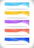 Samling av ljusa abstrakta rengöringsdukbaner Royaltyfri Fotografi