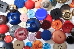 Samling av många olika knappar Royaltyfria Bilder