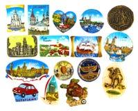 Samling av magneter Royaltyfri Foto