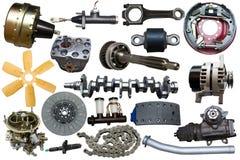 Samling av mekaniska auto delar Royaltyfri Bild