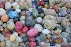 Samling av mineraler Arkivbilder