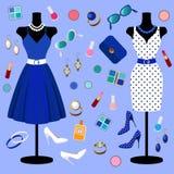 Samling av modekläder Royaltyfri Fotografi