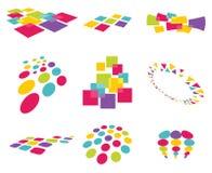 Moderna abstrakt designbeståndsdelar Fotografering för Bildbyråer