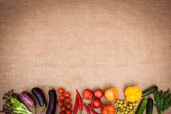 Samling av mogna frukter och grönsaker Royaltyfria Foton