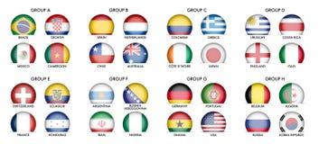 Samling av nationsflaggor Arkivfoto
