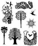 Samling av naturliga tatueringar Arkivfoton