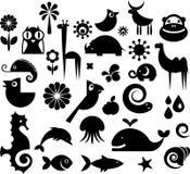Samling av natursymboler Arkivfoton