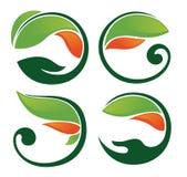 Samling av natursymboler Royaltyfri Fotografi