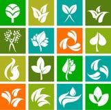 Samling av natursymboler och logoer - 6 Arkivfoton