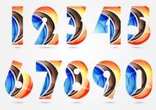 Samling av nummer royaltyfri illustrationer