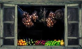 Samling av nya frukt och grönsaker Arkivbilder