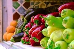 Samling av nya frukt och grönsaker Arkivfoto