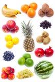 Samling av nya frukter Royaltyfria Bilder