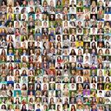 Samling av olika caucasian kvinnor och män som spänner från 18 royaltyfria bilder