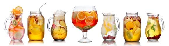 Samling av olika drinkar royaltyfri bild