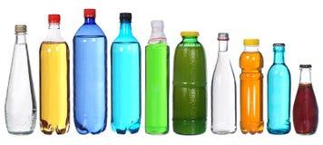 Samling av olika flaskor Royaltyfri Foto