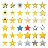 Samling av olika stjärnor Arkivbild