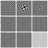 Samling av optiska illusioner för bakgrunder Arkivbild