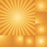 Samling av orange bakgrund för färgbristning Arkivfoto