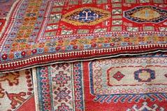 Samling av orientaliska mattor Royaltyfria Foton