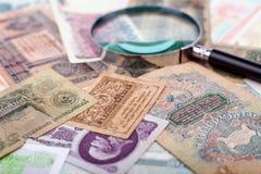 Samling av pappers- pengar royaltyfria bilder