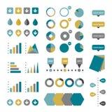 Samling av plana infographicsbeståndsdelar vektor illustrationer