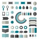 Samling av plana infographicsbeståndsdelar stock illustrationer