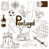 Samling av Portugal symboler Royaltyfri Foto
