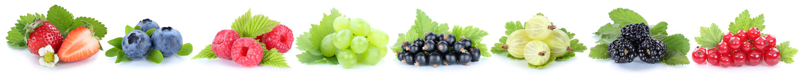 Samling av röda blåbär för jordgubbar för druvor för bärfrukter royaltyfri fotografi