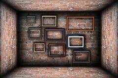 Samling av ramar i abstrakt bakgrund Fotografering för Bildbyråer