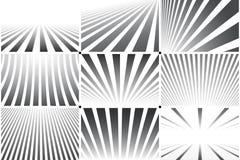 Samling av randiga bakgrunder för abstrakt begrepp Svartvita modeller stock illustrationer