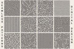 Samling av randiga sömlösa geometriska modeller vektor illustrationer